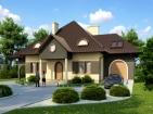 Проект элегантного дома с мансардой и гаражом