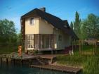Проект двухэтажного дома с мансардой и цоколем